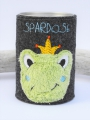 Spardose Blechdose Frosch doodle mit Name