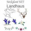 Stickdatei Landhaus SET Vollstick