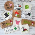 Stickdatei Label Glück SET 13 Motive