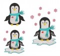 Stickdatei Pinguin Vollstick  SET