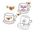 Stickdatei Kaffee Kaffeetasse SET